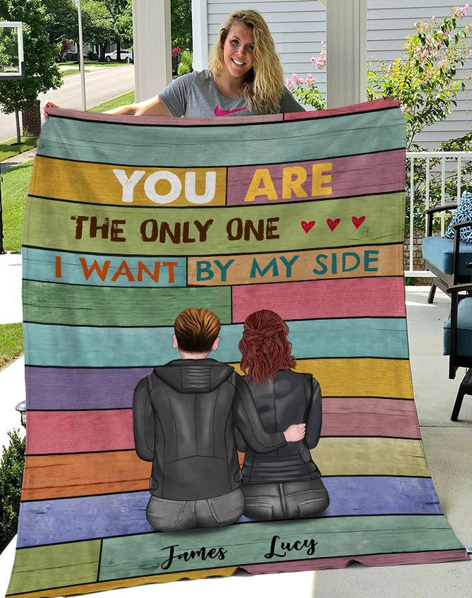 custom name you are the only one i want by my side blanket 3