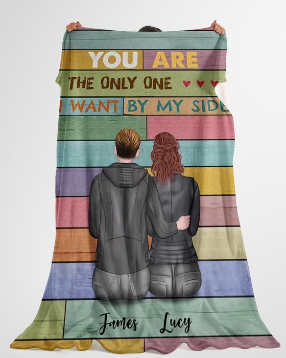 custom name you are the only one i want by my side blanket 5