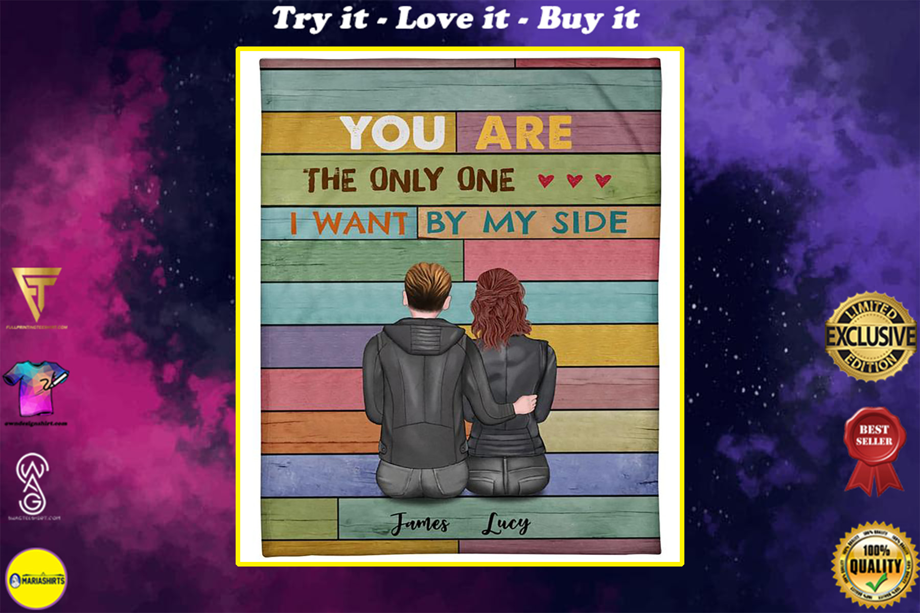 custom name you are the only one i want by my side blanket