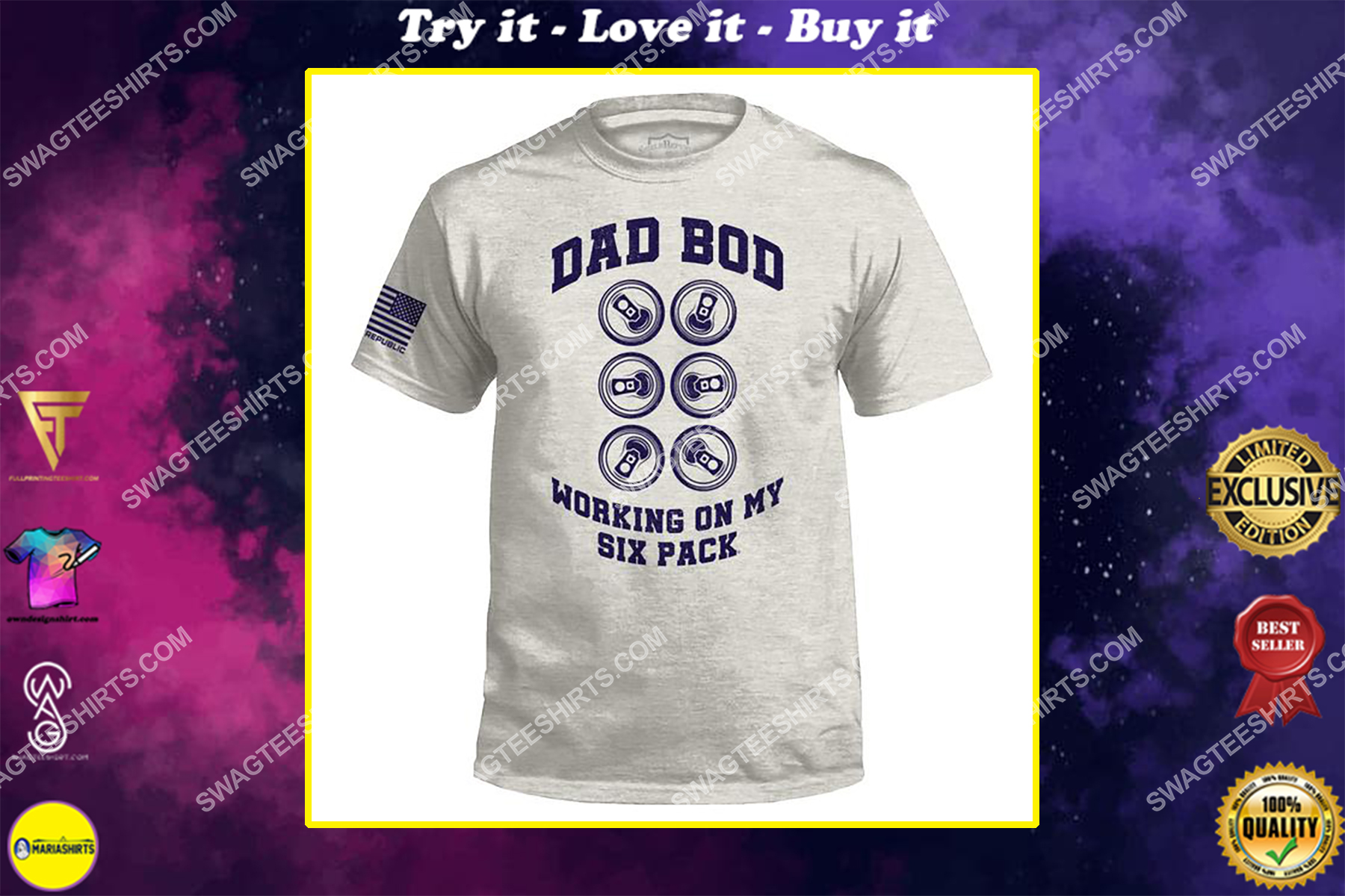 dad bod working on my six pack fathers day shirt