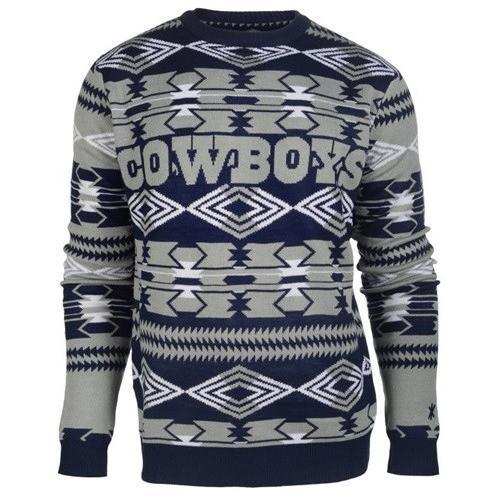dallas cowboys aztec print ugly christmas sweater 1