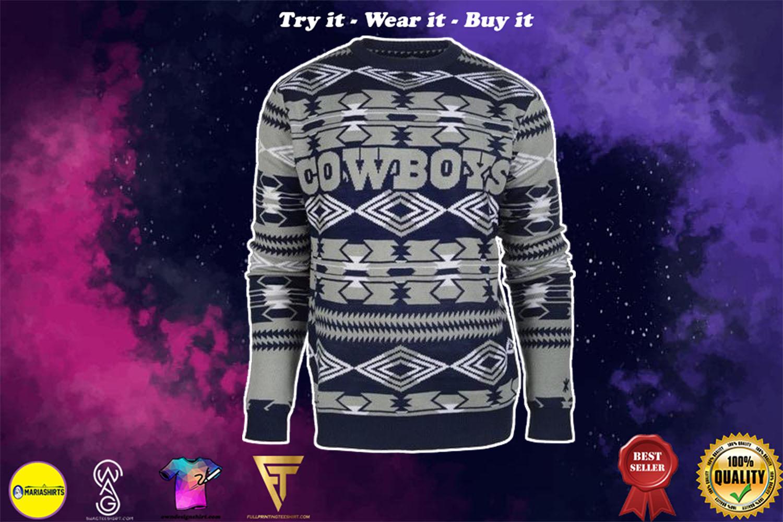 dallas cowboys aztec print ugly christmas sweater