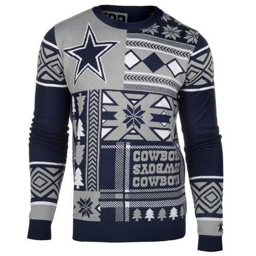 dallas cowboys patches ugly christmas sweater 1
