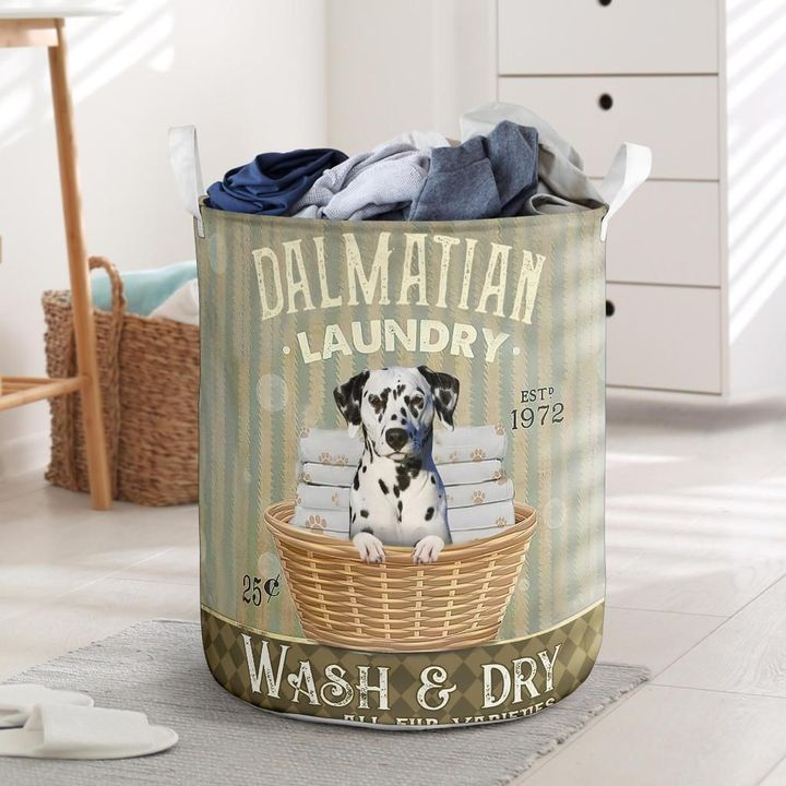 dalmatian wash and dry all over printed laundry basket 2