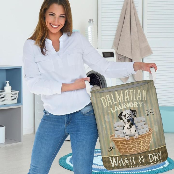 dalmatian wash and dry all over printed laundry basket 5