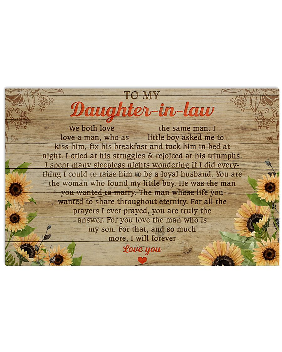 daughter-in-law so much more ill forever love you sunflower poster 1