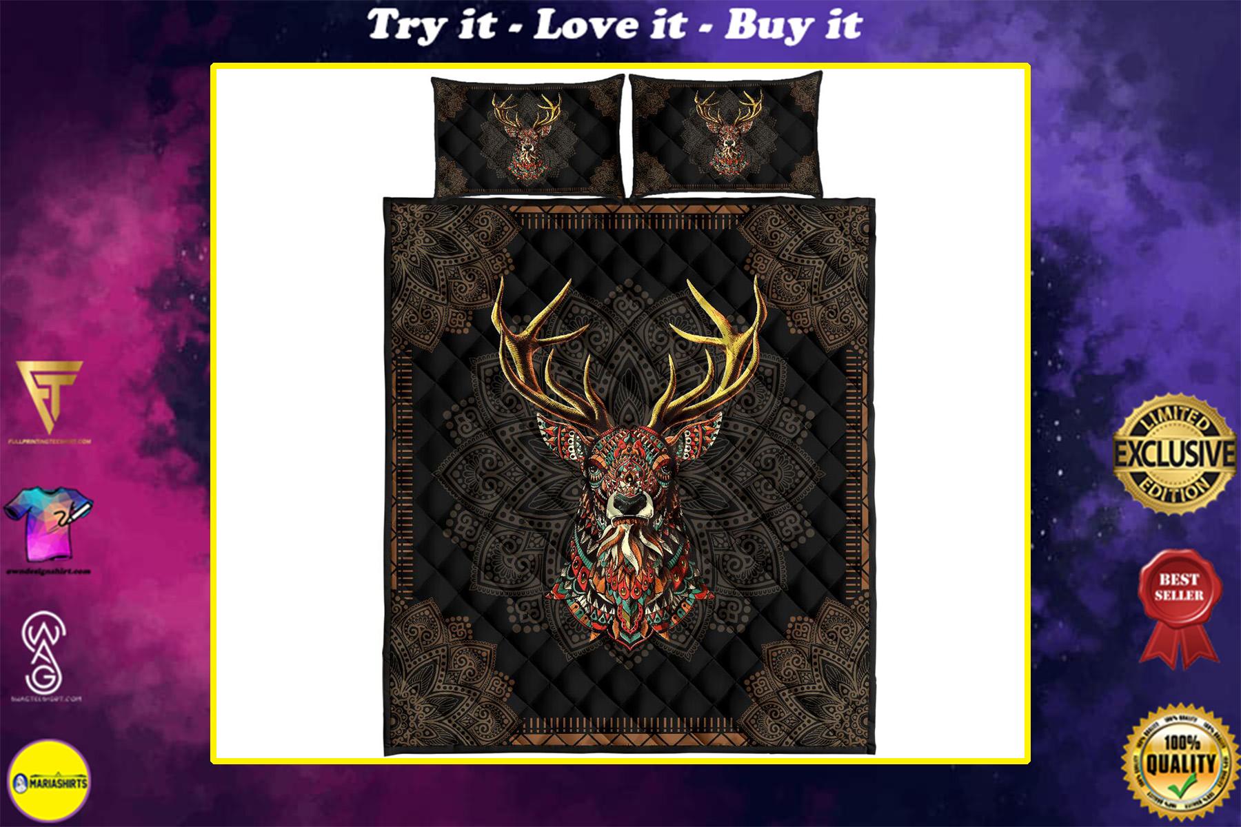 deer american native full over print quilt