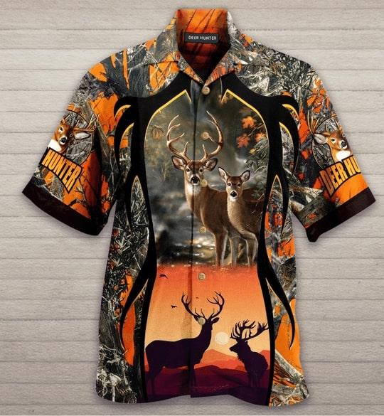 deer hunter all over printed hawaiian shirt 3