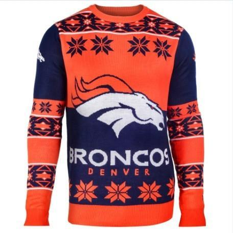 denver broncos national football league ugly christmas sweater 1
