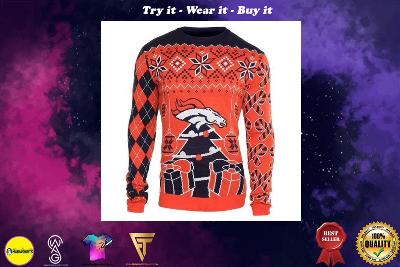 denver broncos ugly christmas sweater