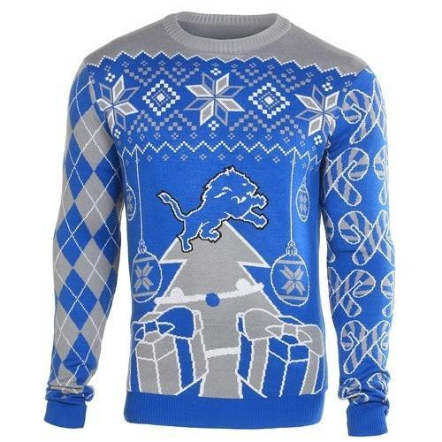 detroit lions ugly christmas sweater 1