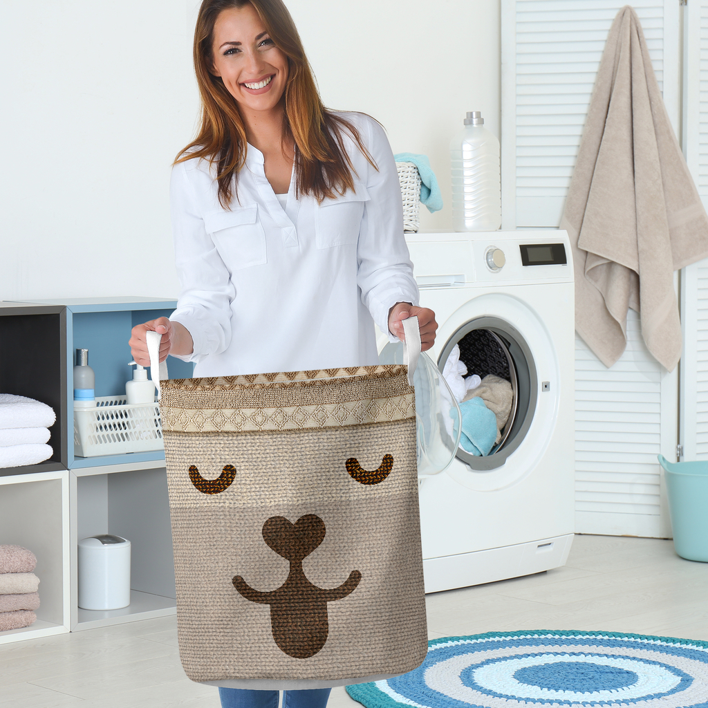 dog woven all over printed laundry basket 5