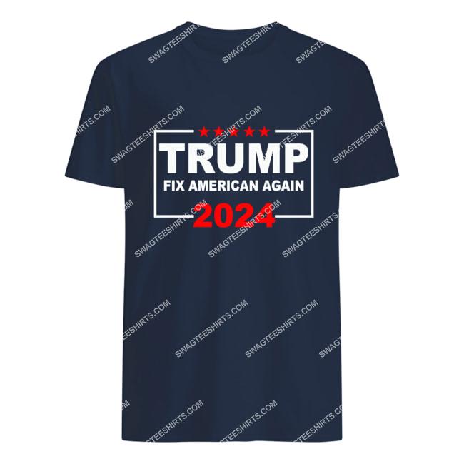 donald trump fix america again fight for democracy politics tshirt 1