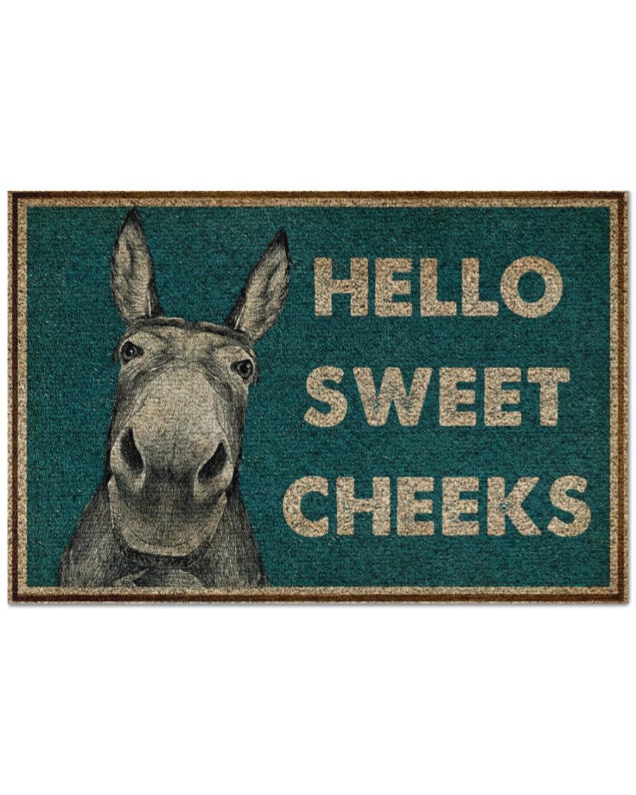 donkey hello sweet cheeks full printing doormat 2