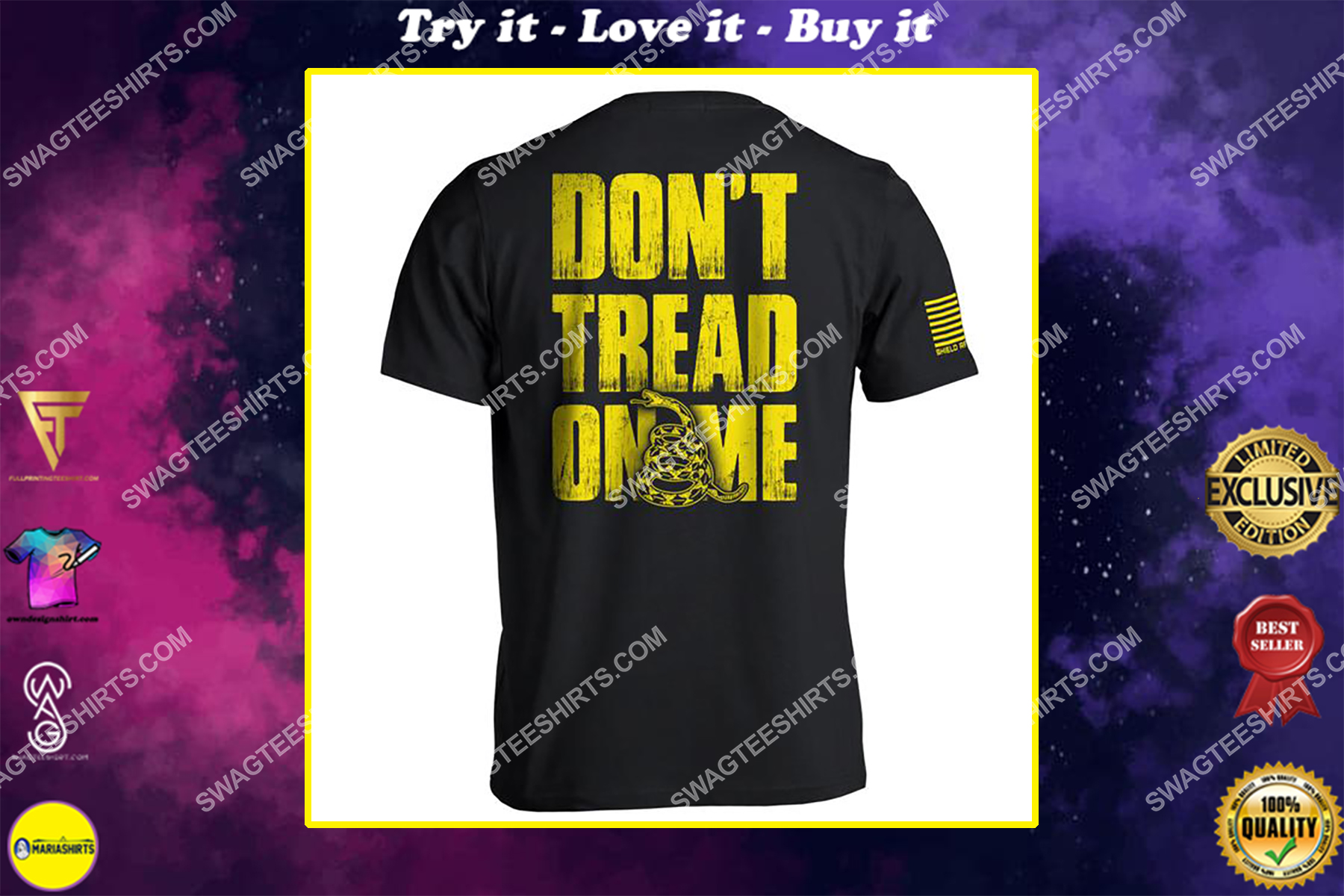 don't tread on me political shirt