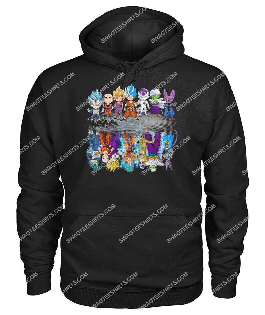 dragon ball z characters chibi water reflection hoodie 1