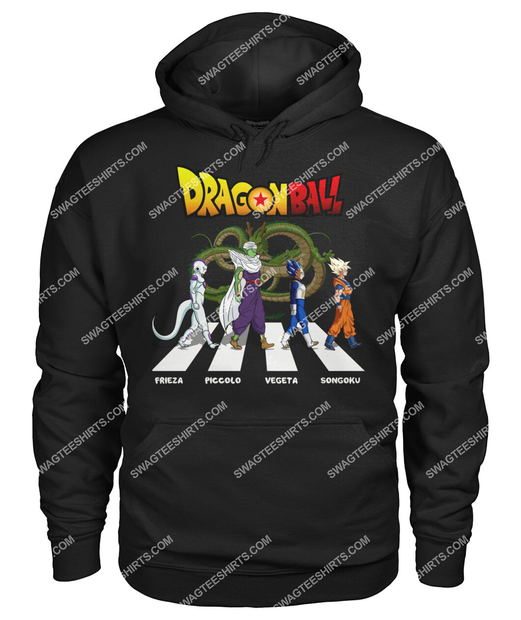 dragon ball z characters signatures abbey road hoodie 1