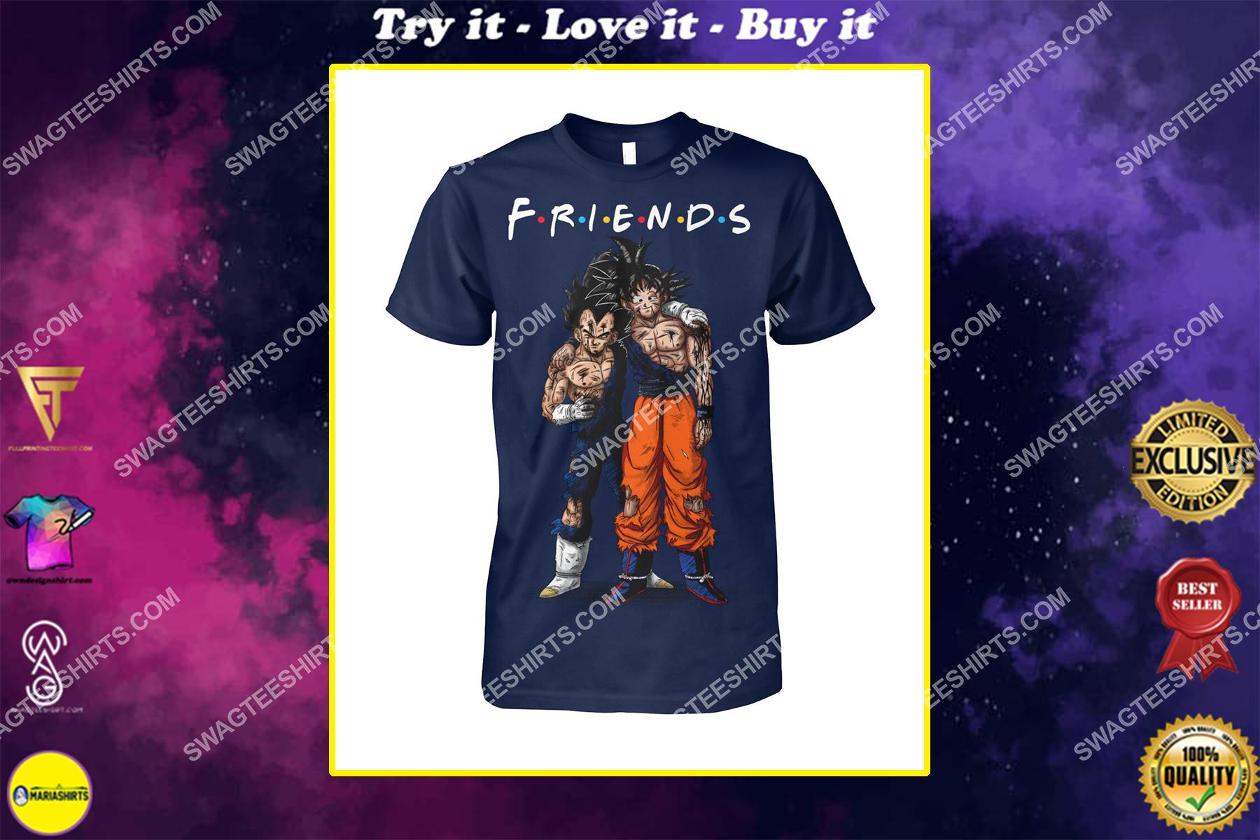 dragon ball z goku and vegeta friends tv show shirt