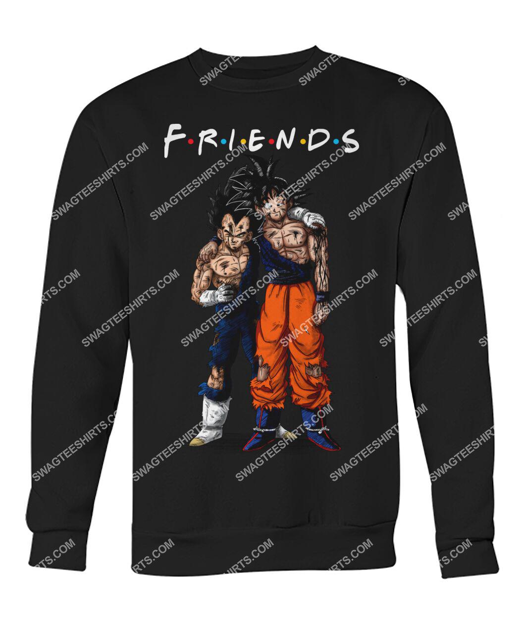 dragon ball z goku and vegeta friends tv show sweatshirt 1