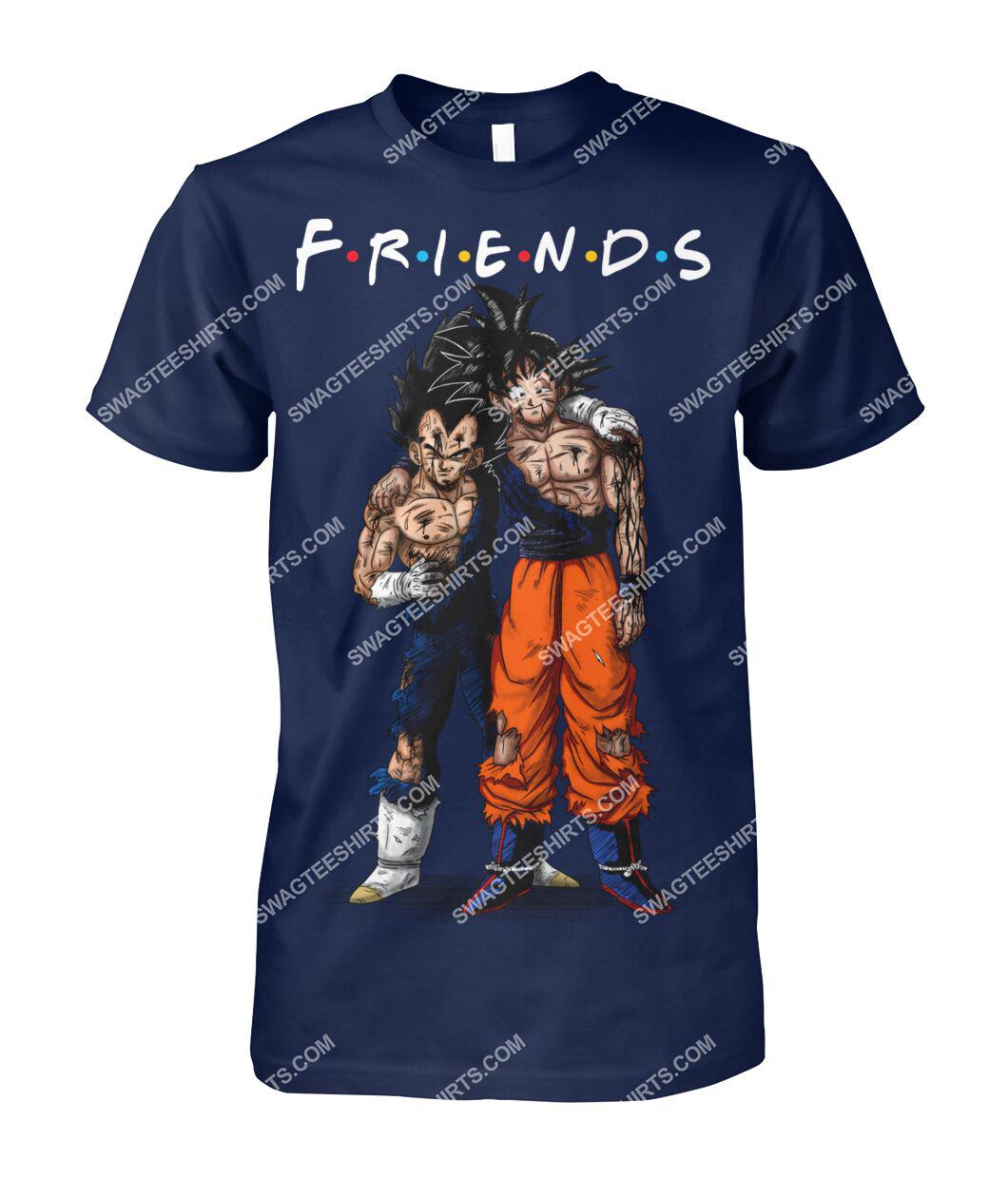 dragon ball z goku and vegeta friends tv show tshirt 1