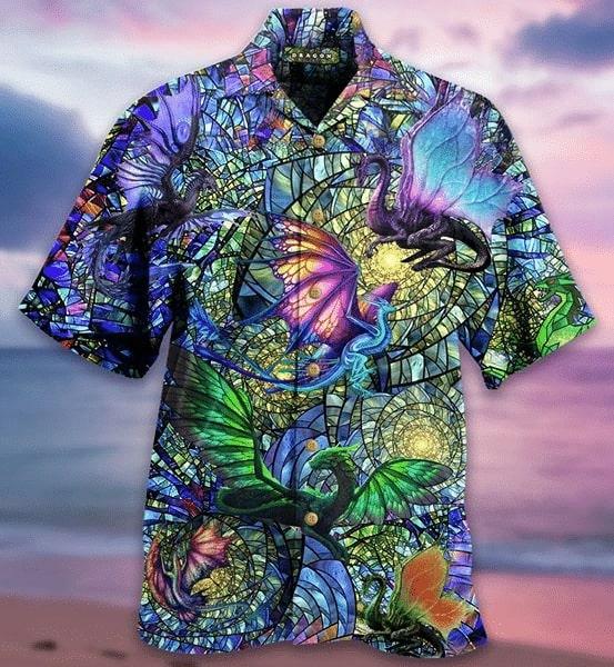 dragons crystal all over printed hawaiian shirt 4