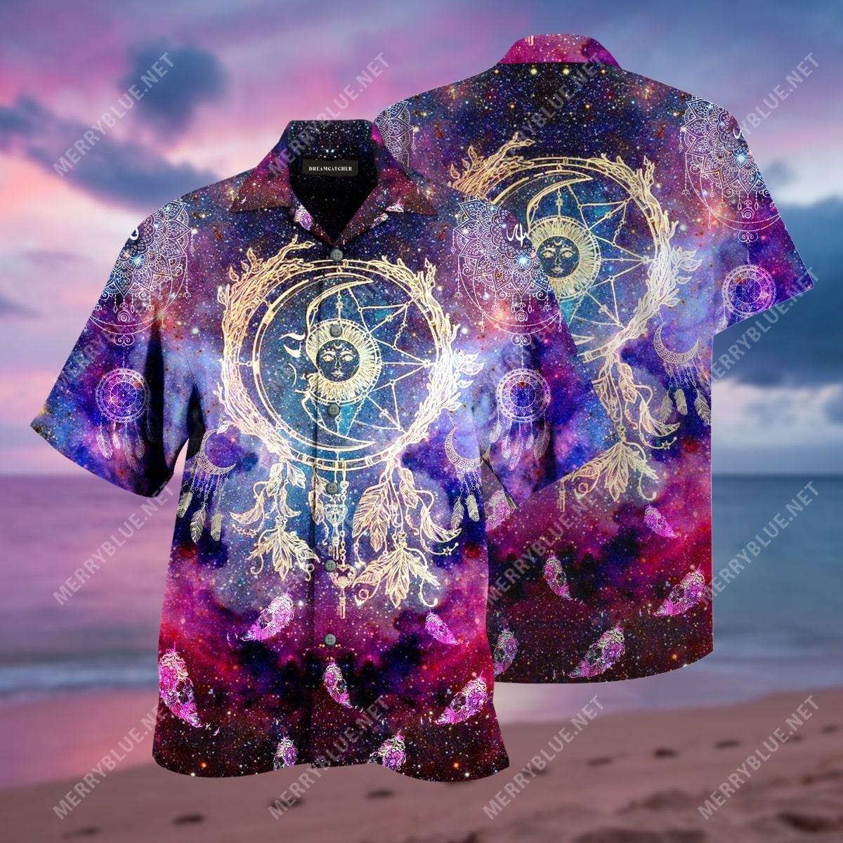 dreamcatcher colorful all over print hawaiian shirt 2
