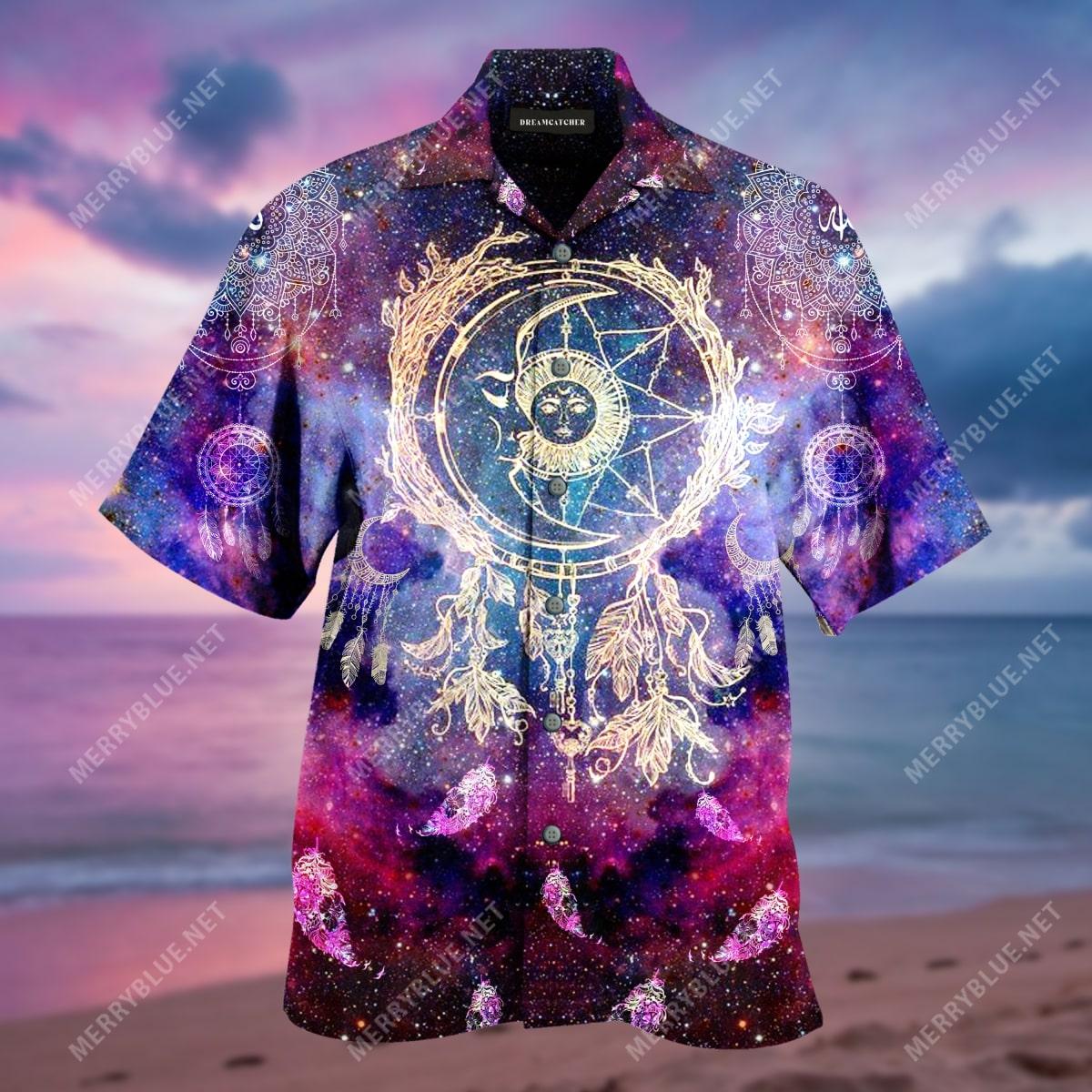 dreamcatcher colorful all over print hawaiian shirt 4