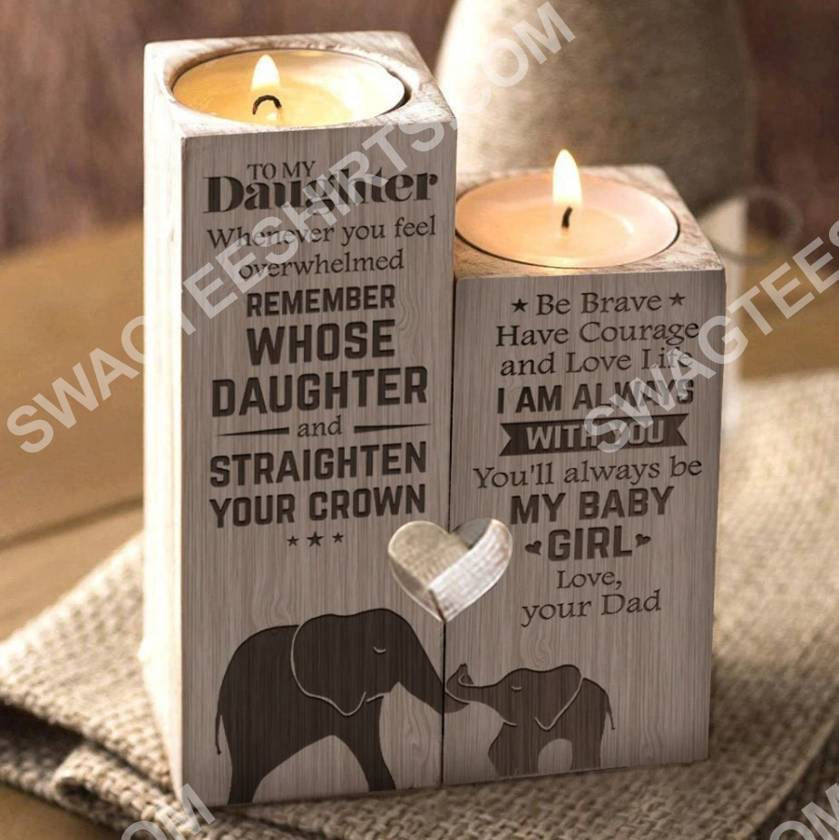 elephant to my daughter you will always be my baby girl love mom candle holder 2(1)