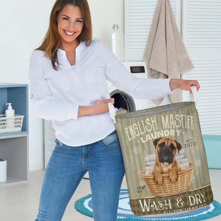english mastiff wash and dry all over print laundry basket 3