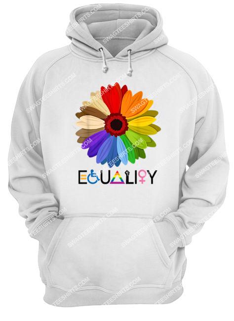 equality flower rainbow retro gay lesbian pride lgbt hoodie 1