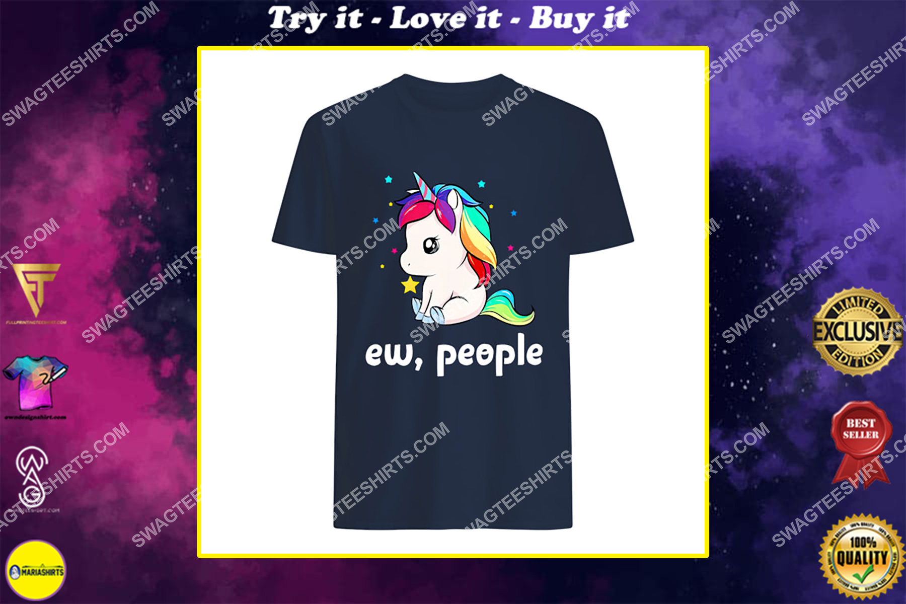 ew people unicorn social distance shirt