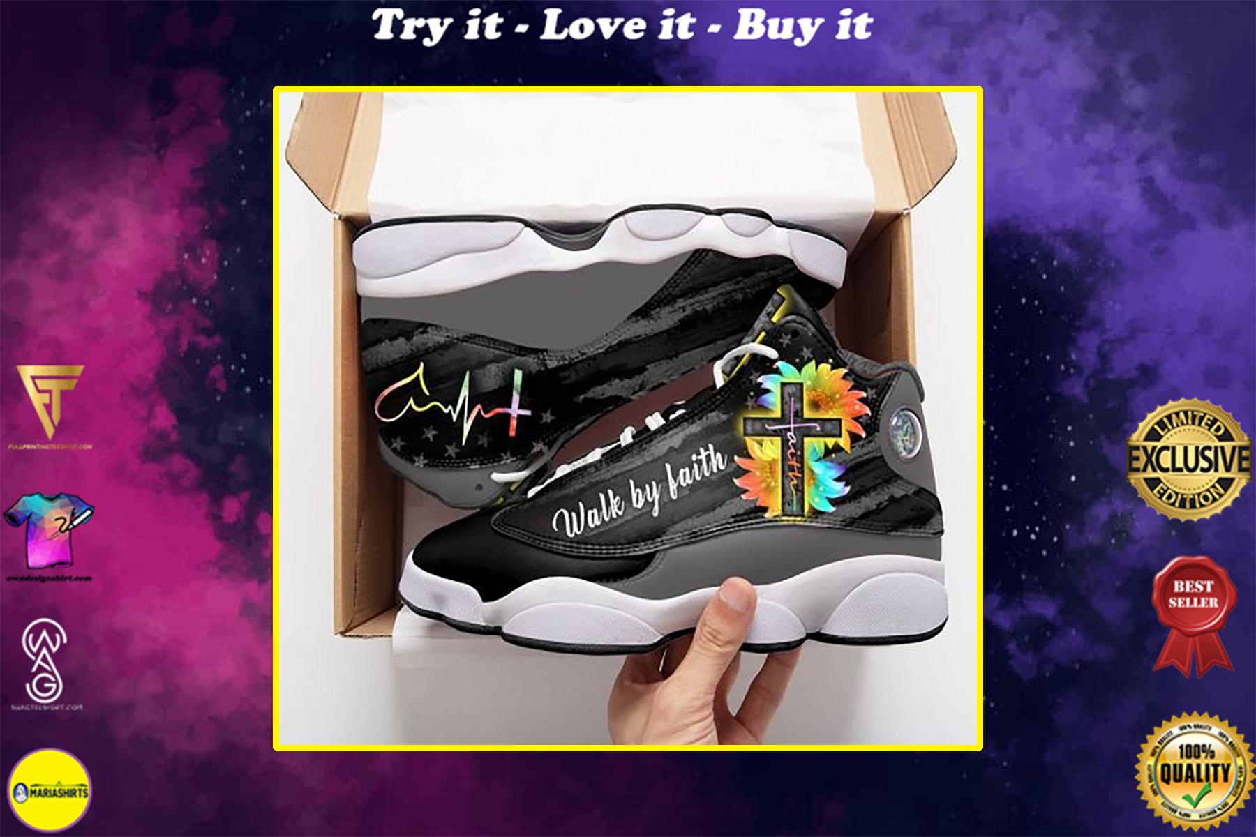faith hope love walk by faith air jordan 13 sneakers