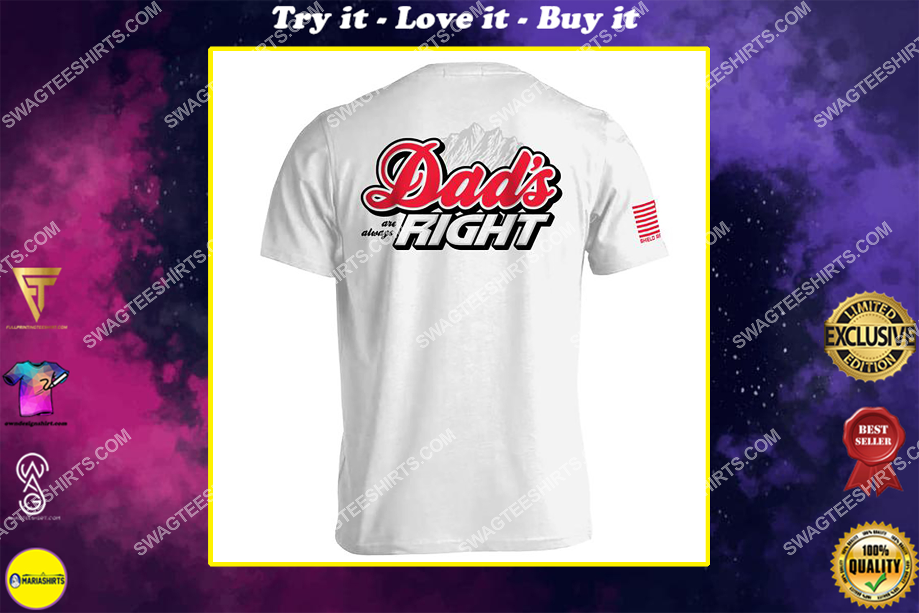 fathers day dad's are always right shirt