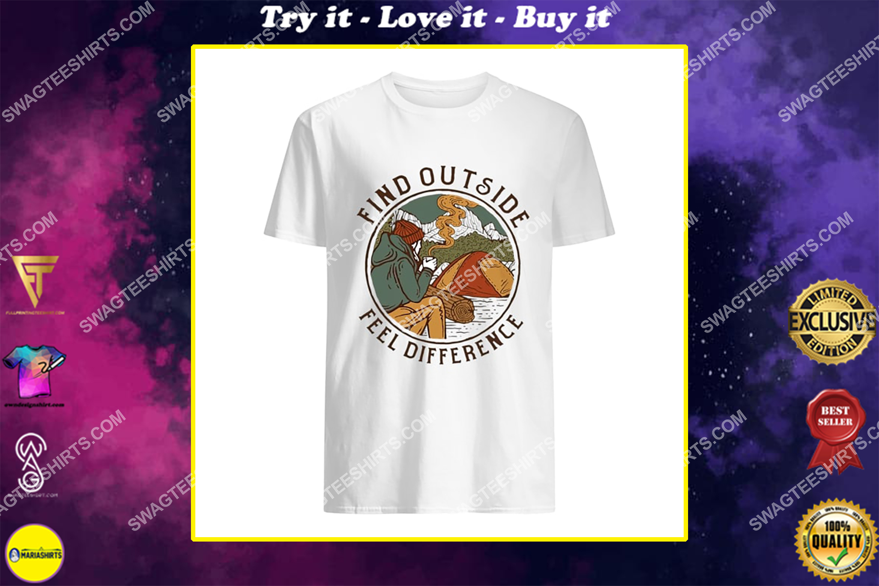 find outside feel difference for camping shirt