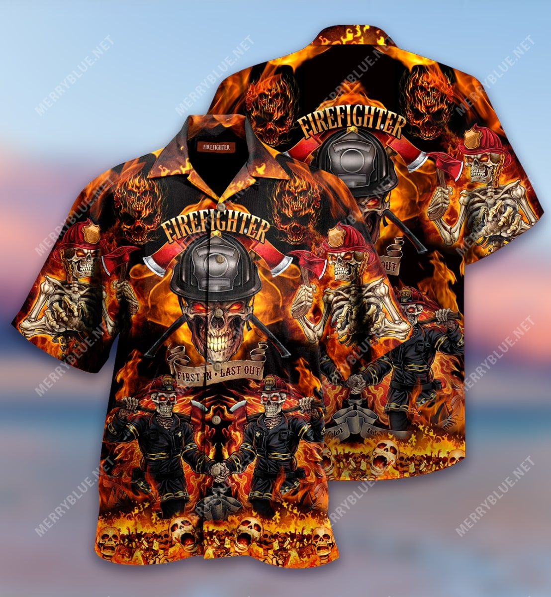 firefighter first in last out all over print hawaiian shirt 3