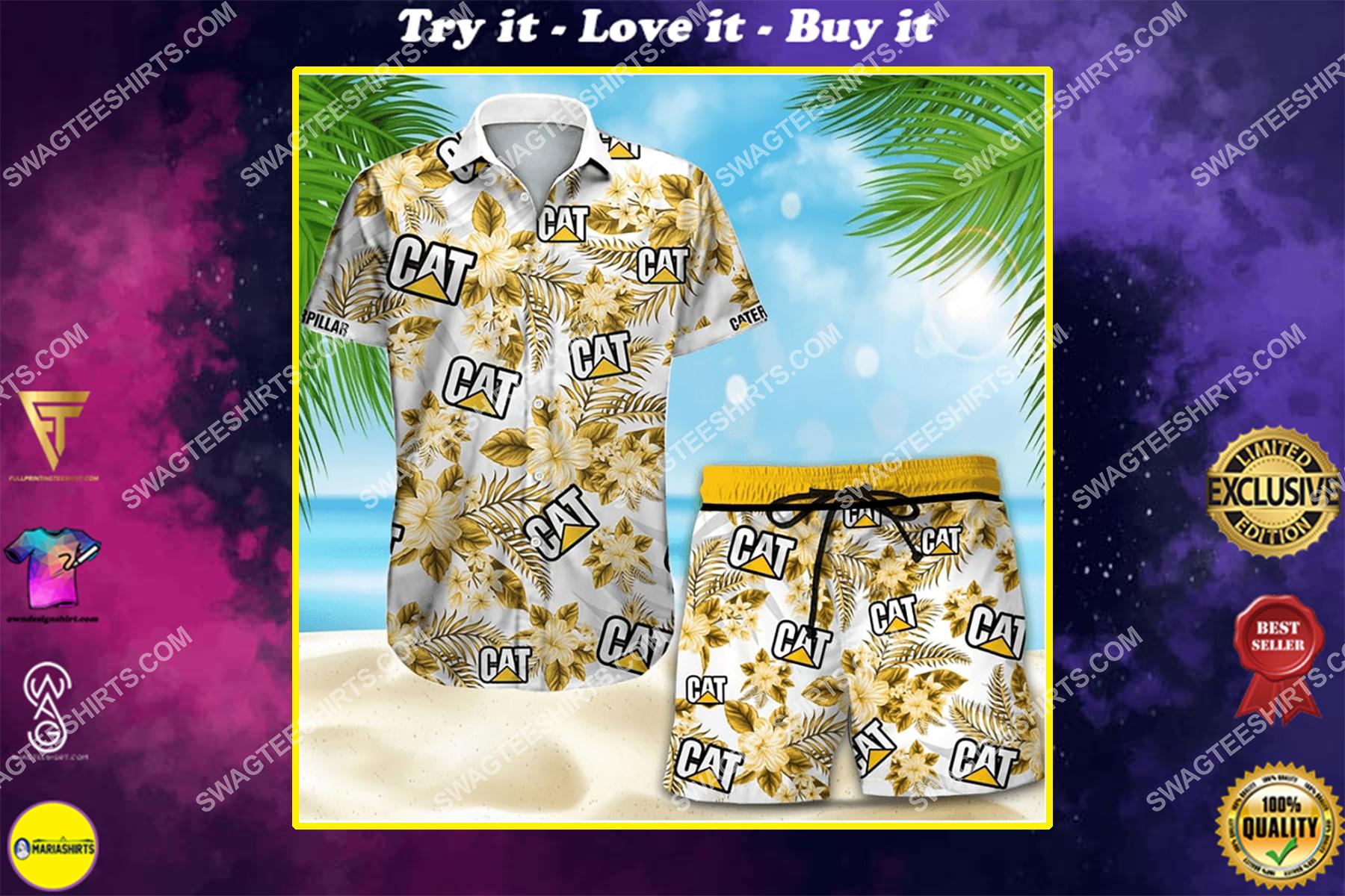 floral caterpillar full printing hawaiian shirt