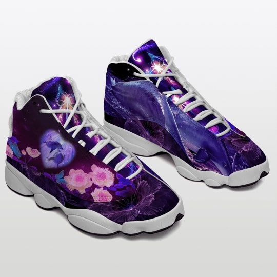floral dolphin all over printed air jordan 13 sneakers 2