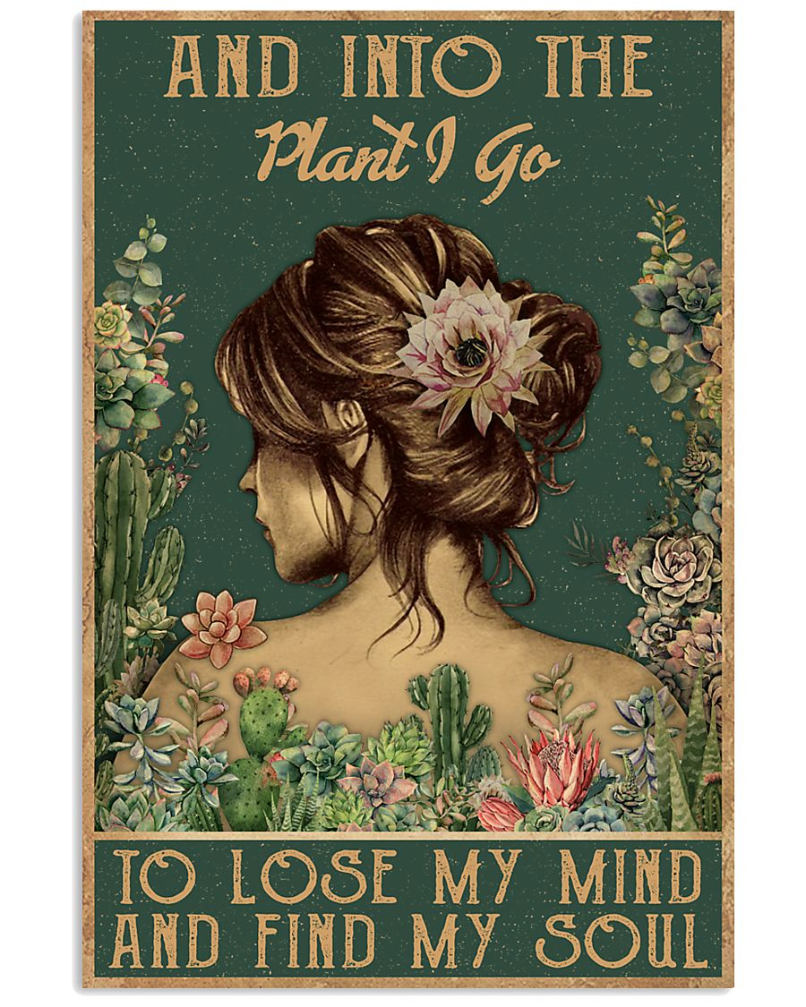 floral girl and into the plant i go to lose my mind and find my soul poster 1