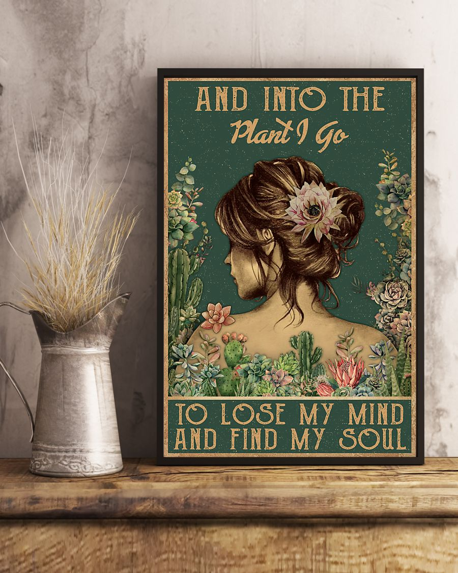 floral girl and into the plant i go to lose my mind and find my soul poster 2