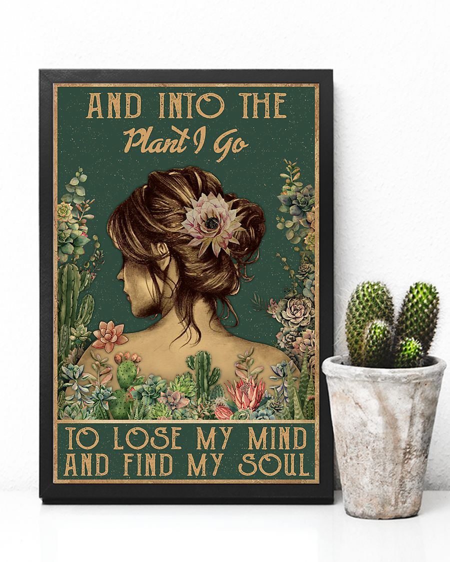 floral girl and into the plant i go to lose my mind and find my soul poster 3