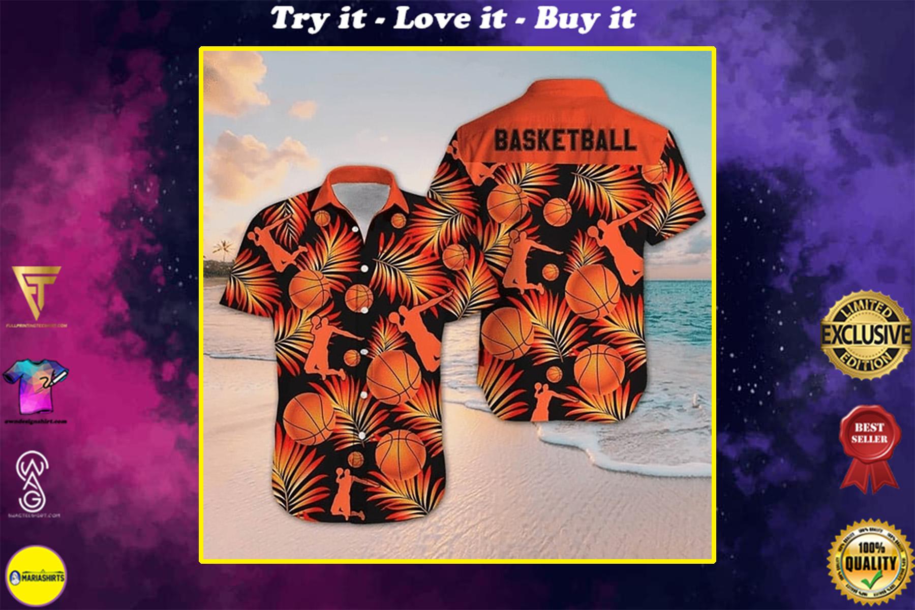 for basketball fan all over printed hawaiian shirt