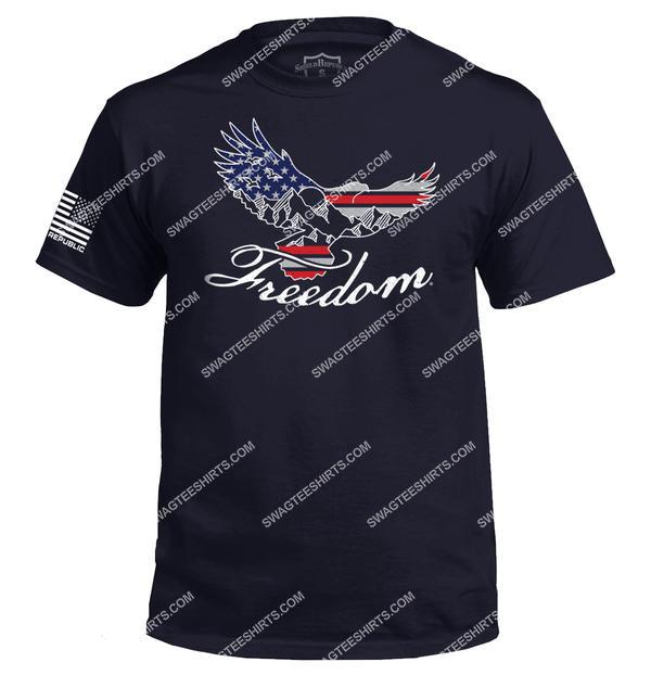 freedom eagle silhouette political full print shirt 4