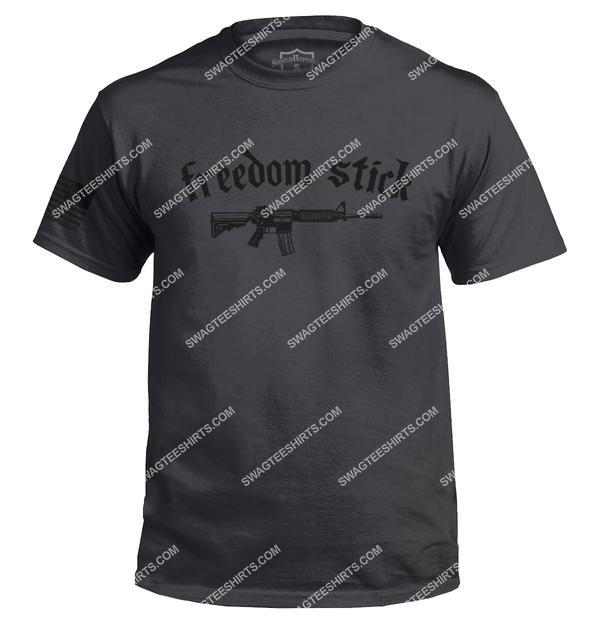 freedom stick gun political full ptint shirt 1