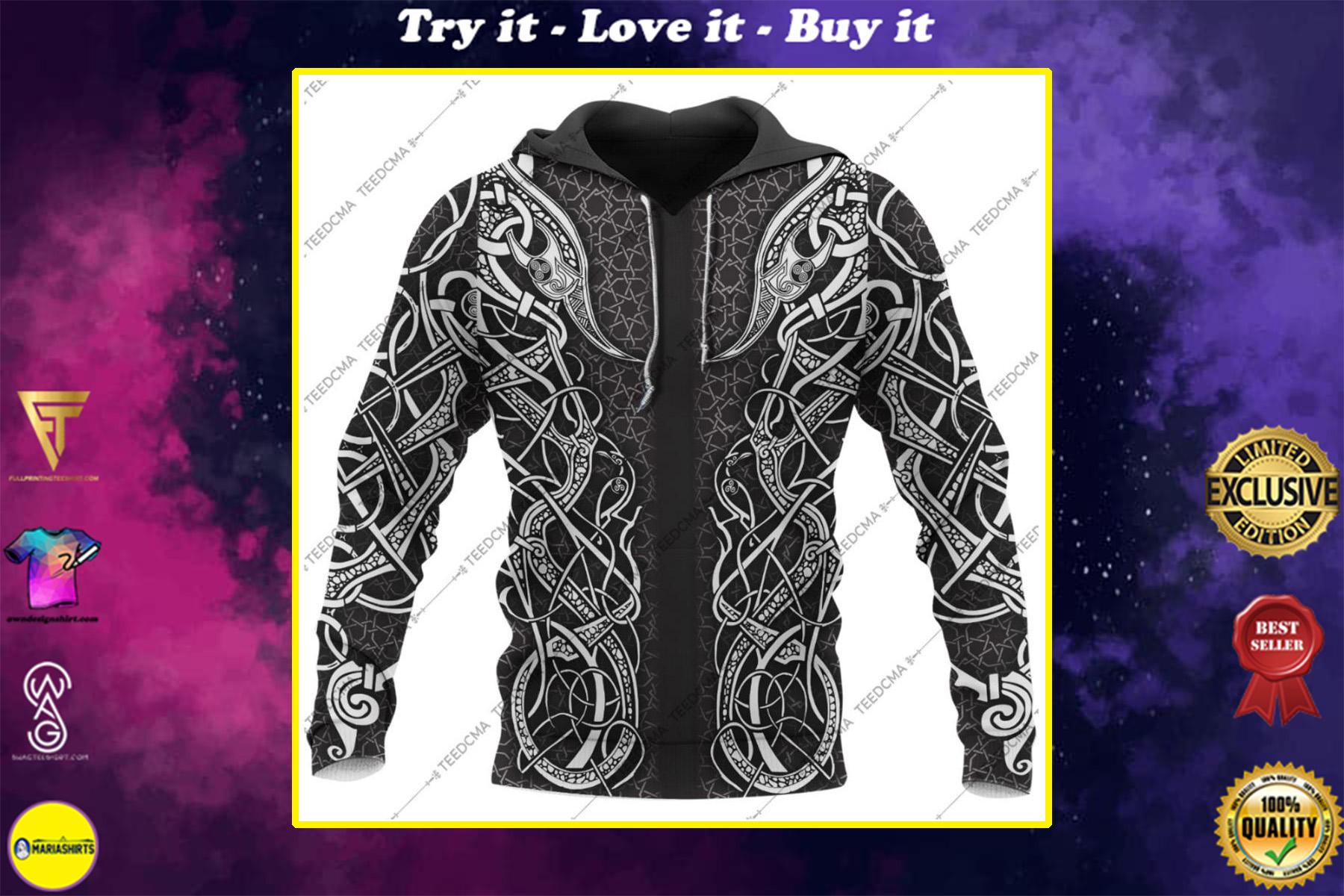 freya viking all over printed shirt
