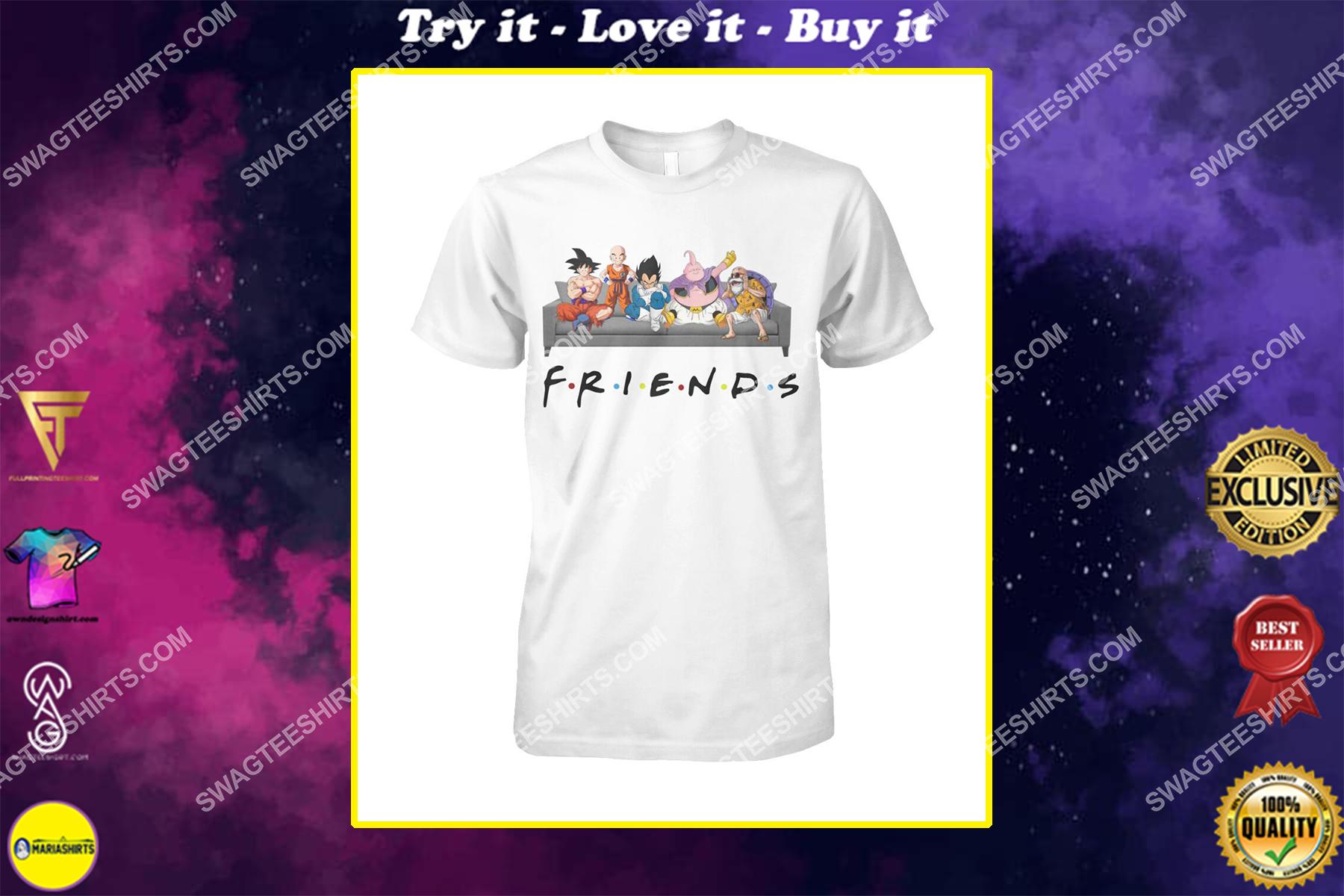 friends tv show dragon ball z characters shirt