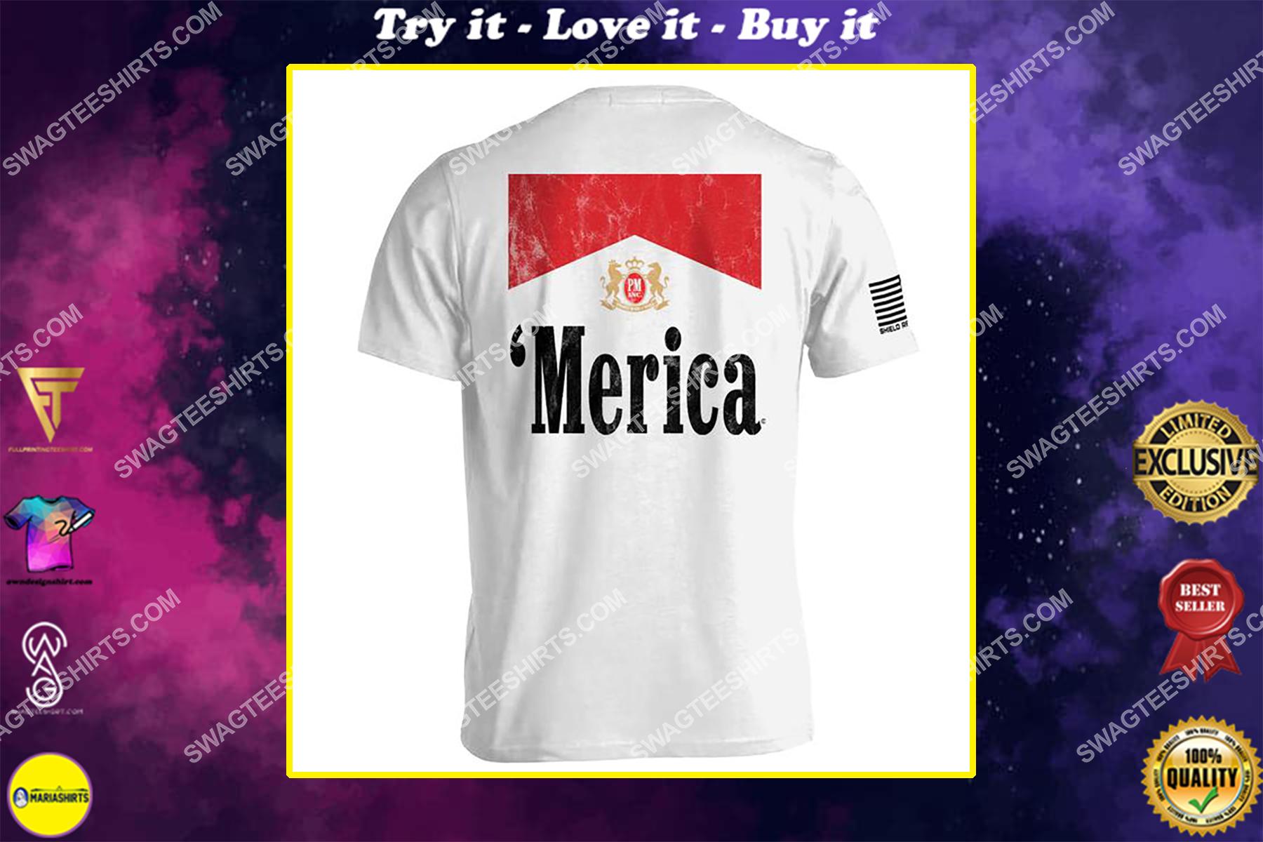 full of freedom merica political full print shirt