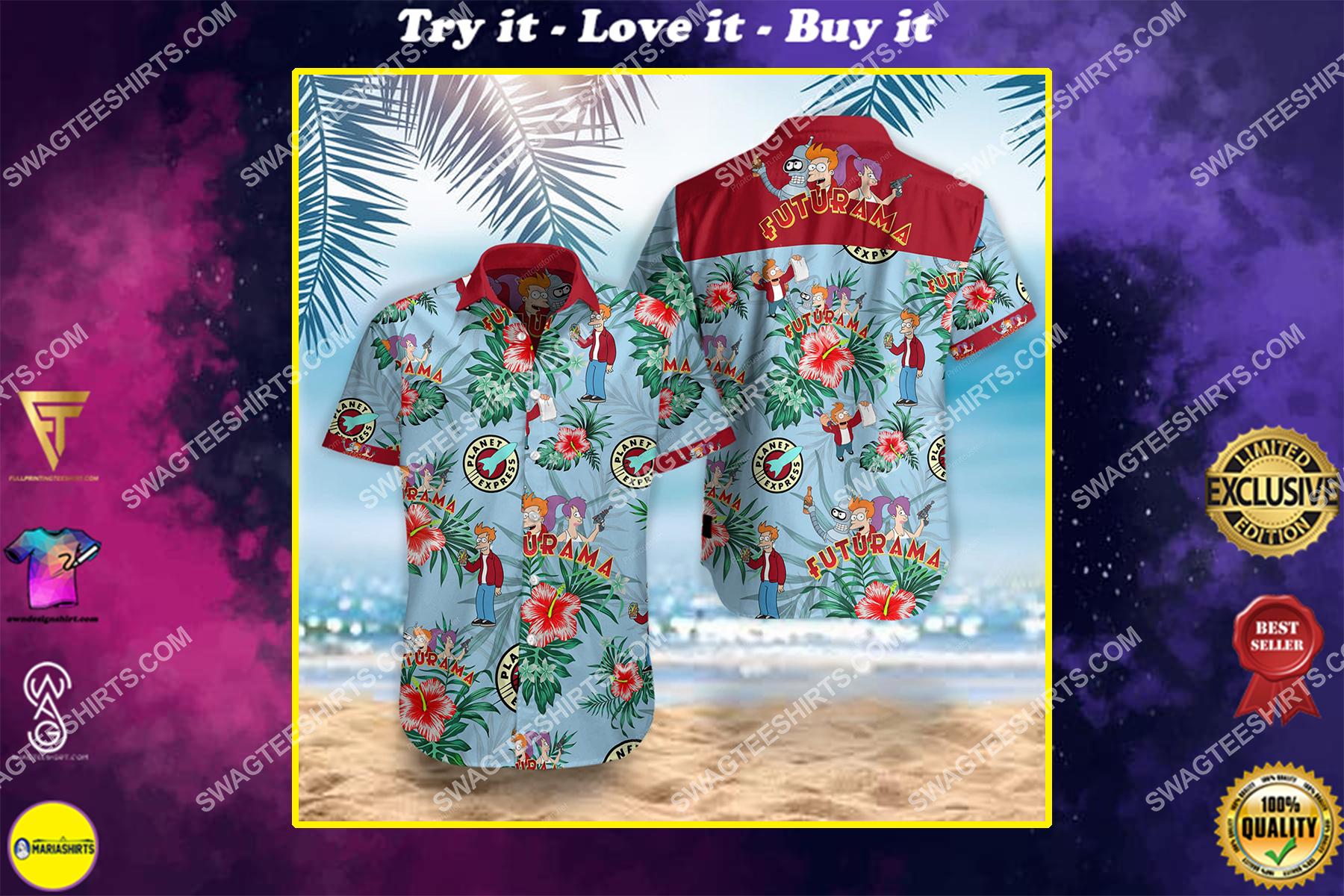 futurama movie all over print hawaiian shirt