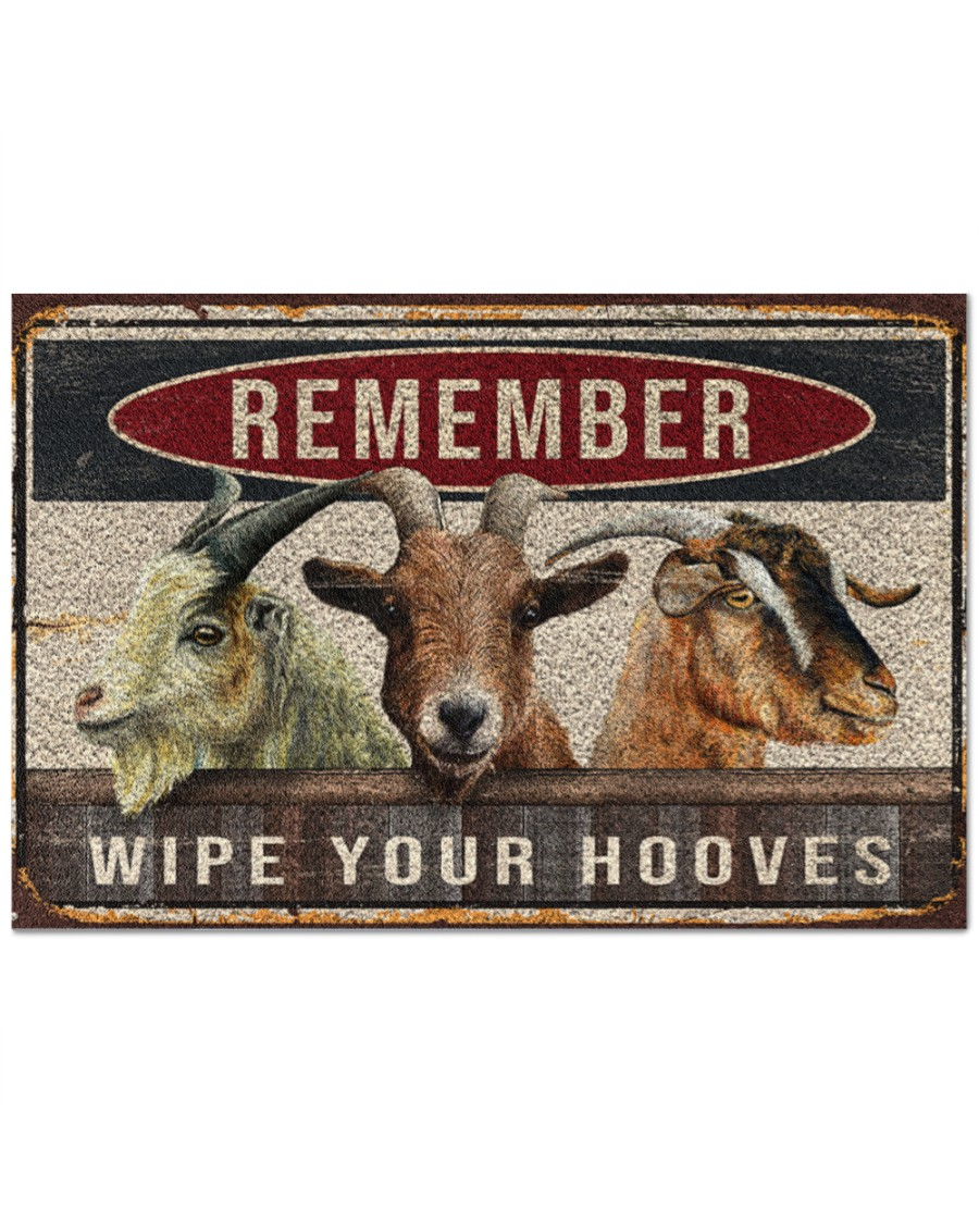 goats remember wipe your hooves full printing doormat 2