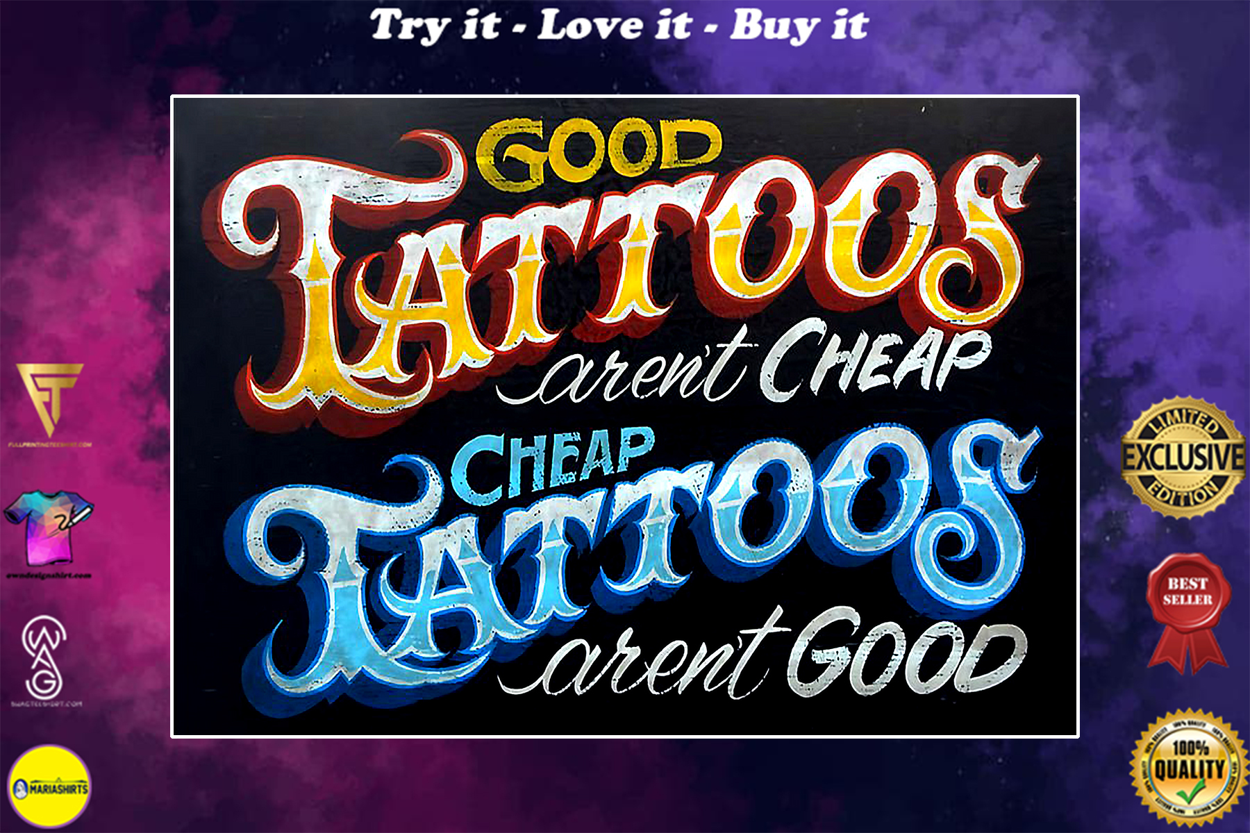 good tattoos arent cheap and cheap tattoos arent good poster vintage poster