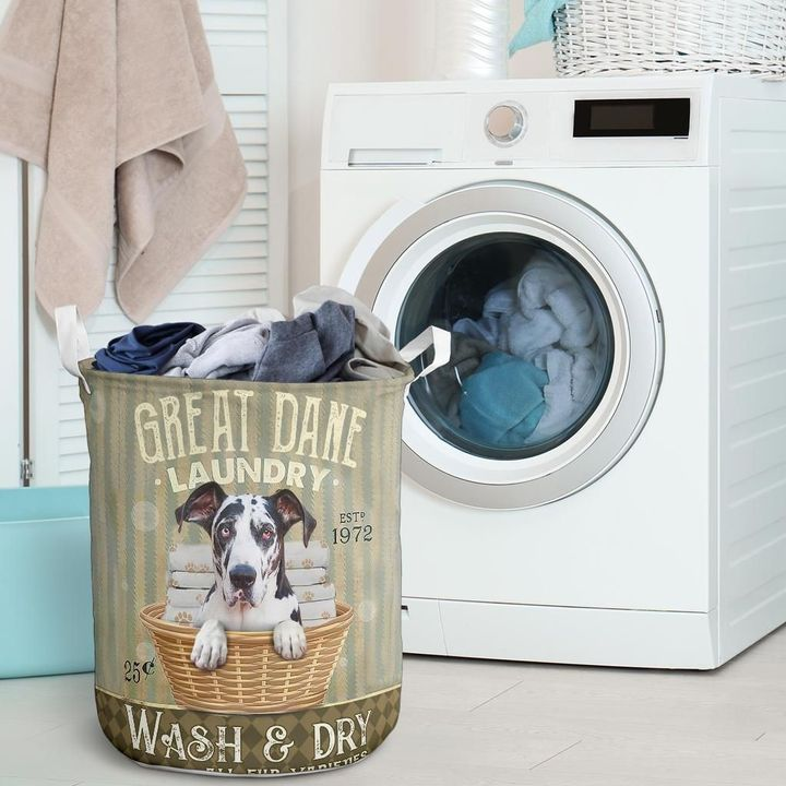 great dane wash and dry all over print laundry basket 2